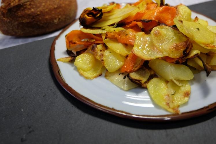 verduras con tomillo y limón