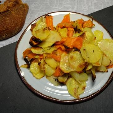 verduras al horno con limón y tomillo
