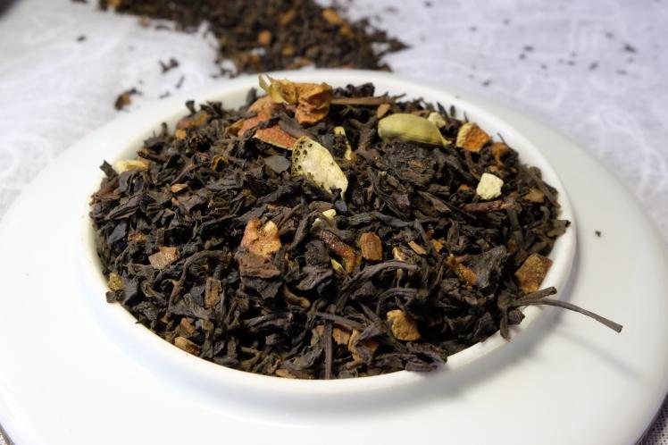 té rojo naranja y canela