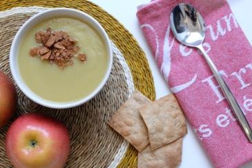 puré de calabacín y manzana