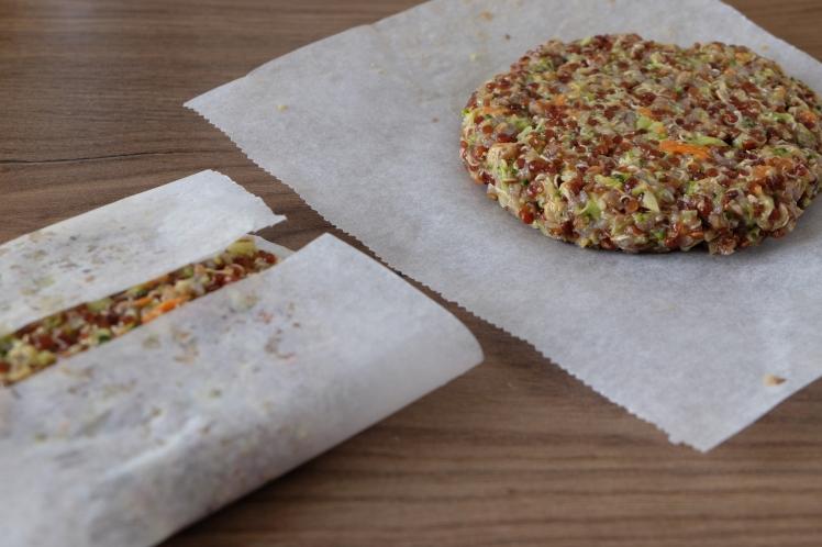 hamburguesas de quinoa y verduras