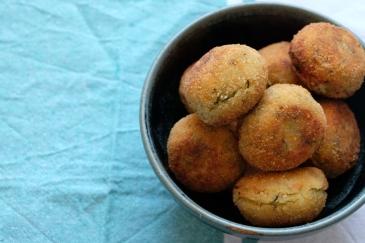 Zucchini balls o croquetas de calabacin