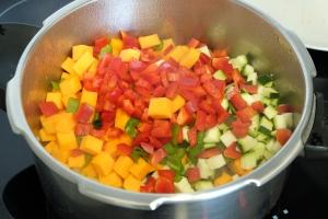 Garbanzos con verduras