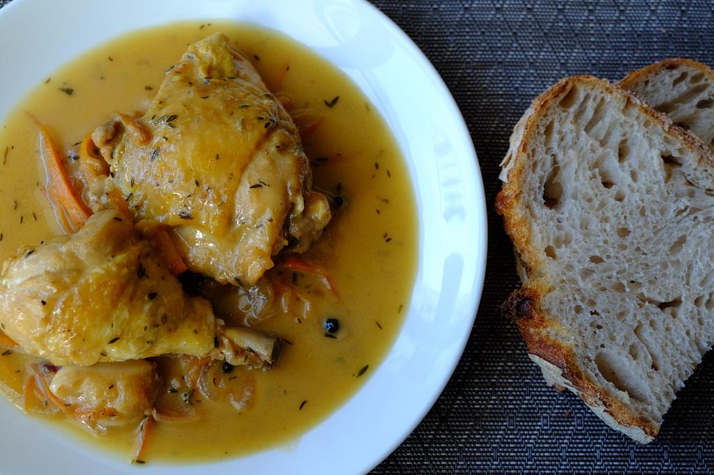 Muslos de pollo en escabeche