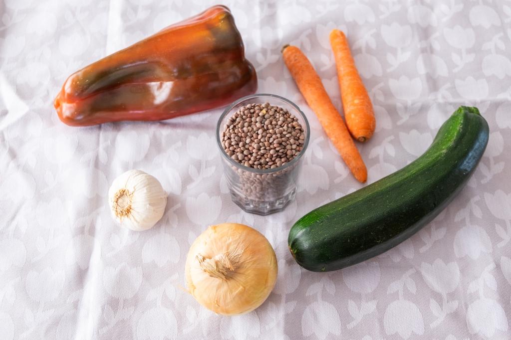 lentejas de verduras