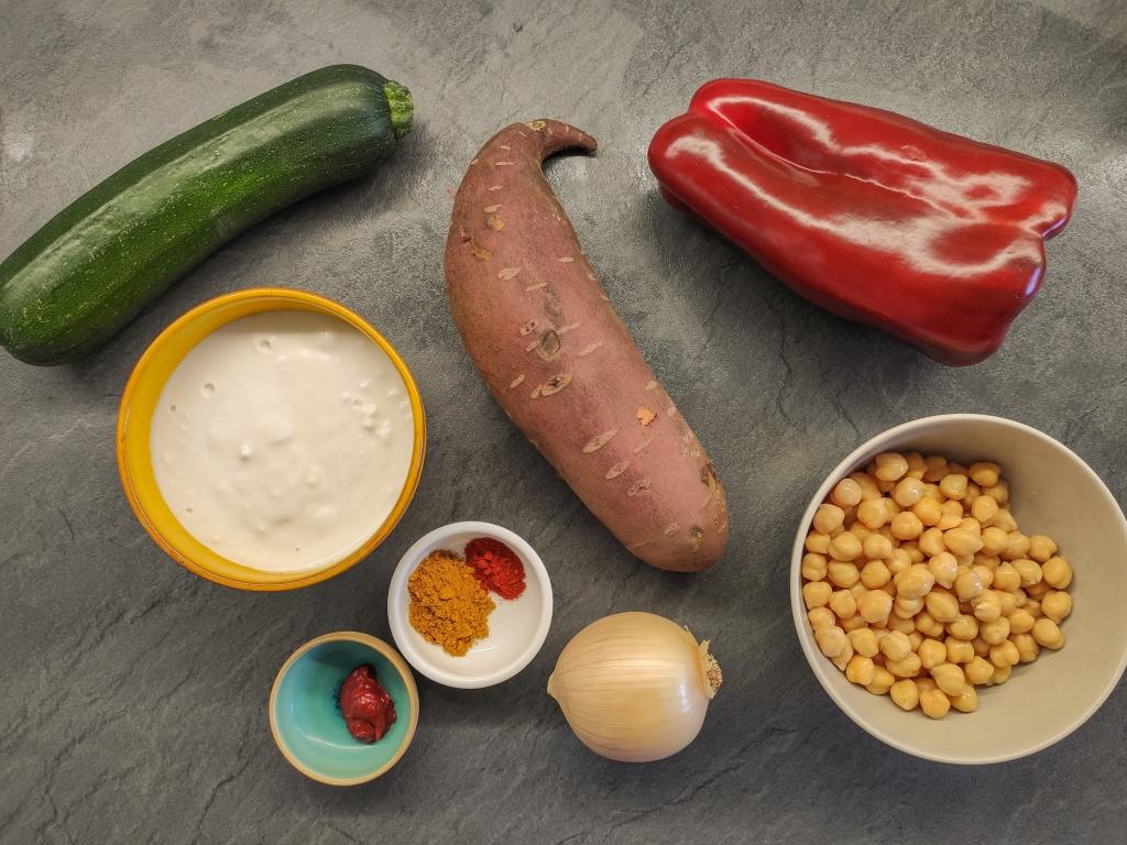 curry de verduras y garbanzos