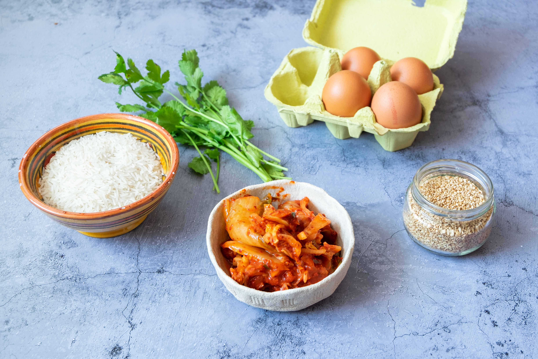 Huevos coreanos con arroz