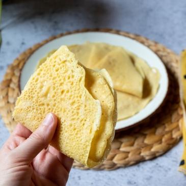crepes con harina de garbanzos o crepes socca